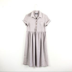 Urban Outfitters Gingham Button Up Midi Dress